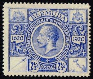 Bermuda #75 King George V; Unused (2Stars)