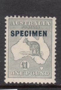 Australia #128s Mint With Specimen Overprint