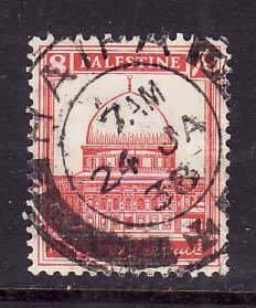 Palestine-Sc#72- id5-used 8m Scarlet-1932-dated-