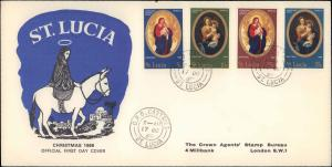 Saint Lucia, Religion, Worldwide First Day Cover
