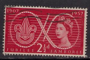GB 1957 QE2 2 1/2d Red Scout Jubilee Comms SG 557 ( G39 )