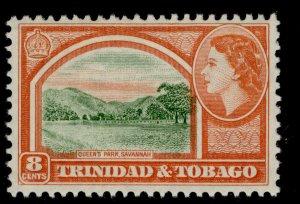 TRINIDAD & TOBAGO QEII SG273, 8c deep yellow-green & orange-red, M MINT.