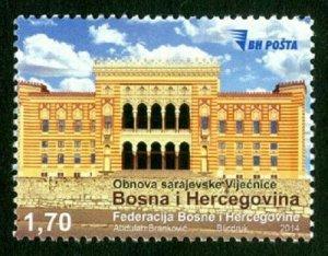 BOSNIA & HERZEGOVINA/2014, Reconstruction of the City Hall in Sarajevo, MNH