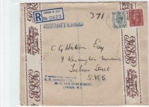 h.r.harmer bond street london 1948 registered  stamps cover ref r16066
