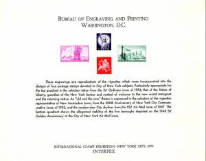 US SC7 Interpex Souvenir Card Mint