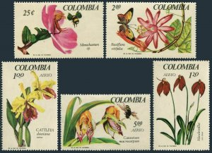 Colombia 768-C491,C491a,MNH.Mil 1098-1102,Bl.27 Orchid EXPO-1967.Bee.