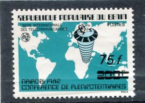 Benin 1982 NAIROBI CONFERENCE Ovpt. New value Perforated Mint (NH)