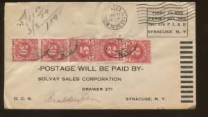 1936 Wichita Falls Texas Solvay Sales Corporation First-Class Advertising Cover