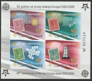 Montenegro 2006 Sc 129E Europa S/S MNH imperf