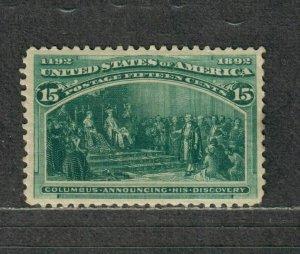 US Sc#238 M/H/VF, Tiny Perf Thin, Cv. $200