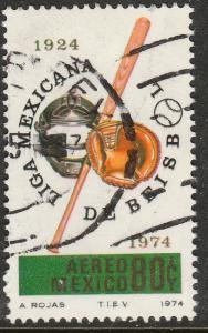MEXICO C436, 50th Anniv of the Mexican Baseball League USED. F-VF. (1306)