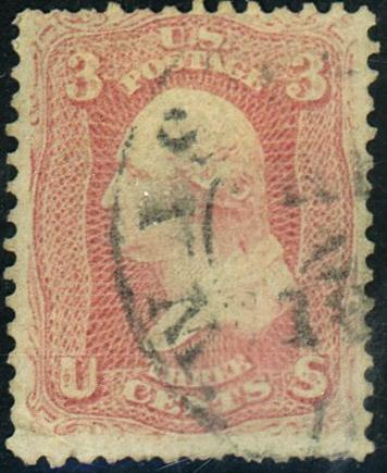 U.S. #64 Used with Weiss Cert Cat$700