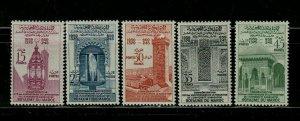 MOROCCO STAMPS 1960 SC# 39-43 King Mohammed V, 50th Birthday MNH