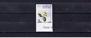 NAURU 1973 3c DEFINITIVE IMPERFORATE SINGLE