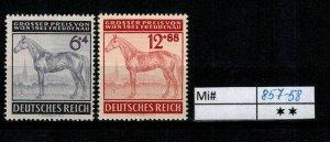 Deutschland Reich TR02 DR Mi 857-58 1939 Reich Postfrisch ** MNH