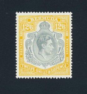 BERMUDA 1947, 12sh6d LEMON YELLOW VF MLH +CERTIFICATE SG#120d (SEE BELOW)