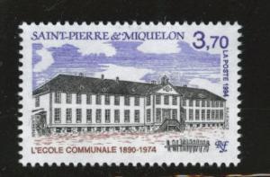 St. Pierre & Miquelon Scott 607 MNH** 1994 school stamp