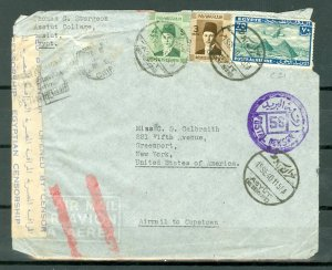 EGYPT 1940 #C21 on CENSORED COVER TO US...