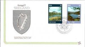 Ireland, Worldwide First Day Cover, Art, Europa