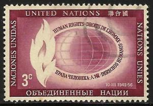 United Nations New York 1956 Scott# 47 Used