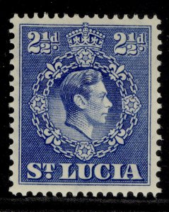 ST. LUCIA GVI SG132, 2½d ultramarine, M MINT.