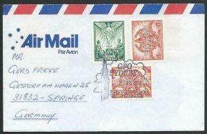 AUSTRALIA 1996 cover to Germany - nice franking - Sydney Pictorial pmk.....14713