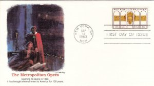 1983, Metropolitan Opera, Fleetwood, Unaddressed, FDC (D8794)