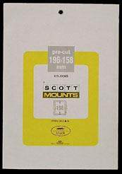 Scott Mounts Black, 196/158 mm (pkg 4) (01013B)