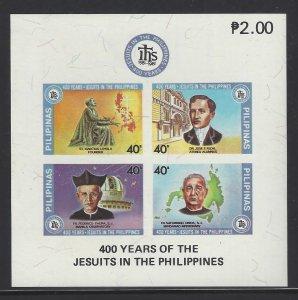 1537 400th Anniv Jesuits/Rizal/Faura/Loyola/Urios CV$4