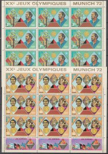 COLLECTION LOT OF # 1711 HAITI 3 SHEETS OF 9 MNH STAMPS 1972 CV+$31 2 SCAN