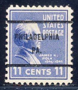 Philadelphia PA, 816-61 Bureau Precancel, 11¢ Polk