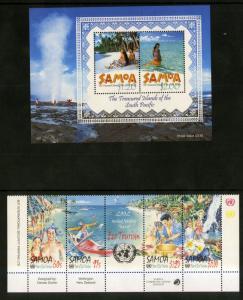 SAMOA 1020-3,1023a  MNH S/S SCV $9.25 BIN $5.50