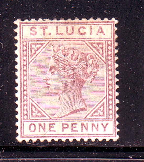 St Lucia Sc 29 1891  1d lilac Victoria stamp mint