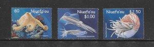 NIUAFO'OU #245-7  MARINE LIFE   MNH