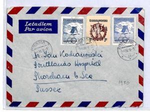 CQ128 1950 *Czechoslovakia* Praha Air Mail Cover