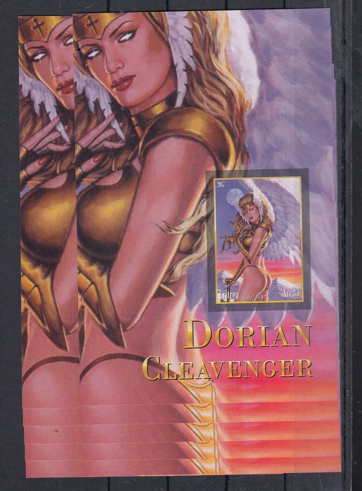 10pcs Art Painting Fantasy Art Nude imperf - Private Local issue [PL5] not  MNH