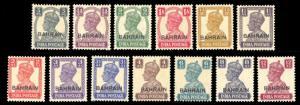 Bahrain 1942-44 Scott #38-51 Mint LH