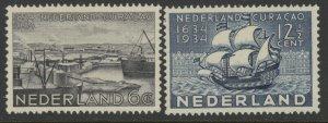 Netherlands 202 & 203 complete set - mh 1634 1934 Nederland Curaçao stamps