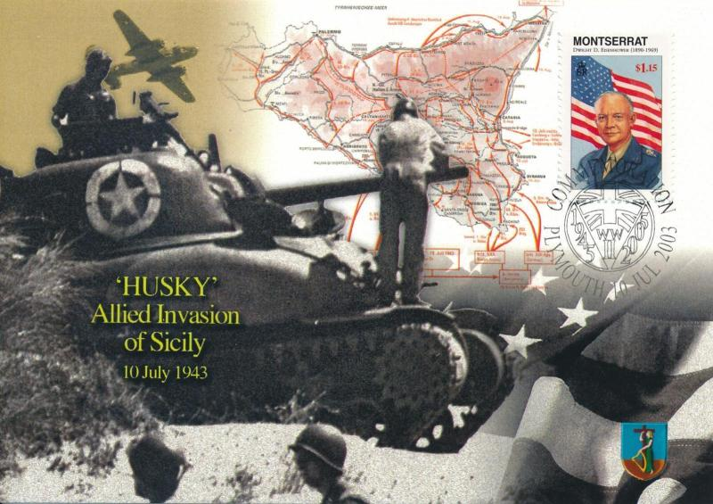 [96911] Montserrat 1998 World War II Husky Eisenhower First Day Card