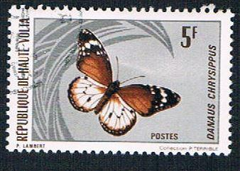 Upper Volta 247 Used Butterfly (BP08616)