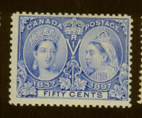 Canada #60 MINT F-VF OH HR Cat$375