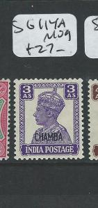 INDIA CHAMBA (P0804B) KGVI 3A  SG 114A  MOG