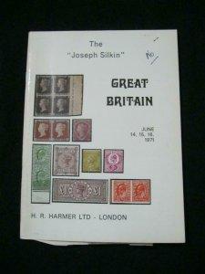 H R HARMER AUCTION CATALOGUE 1971 GREAT BRITAIN 'JOSEPH SILKIN'
