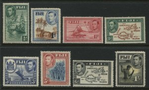 Fiji KGVI 1938 various from 1/2d to1/ mint o.g. hinged