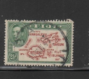 FIJI #134  1940  2 1/2p    KING GEORGE VI    F-VF  USED