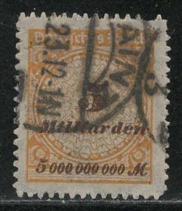 Germany Reich Scott # 307, used, exp h/s