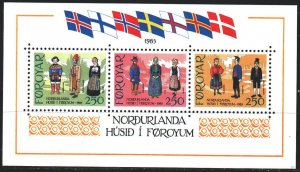 Faroe Islands. 1983. bl1. Folk costumes. MNH.