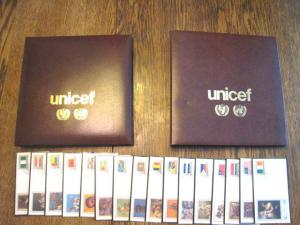 UNICEF FLAGS OF THE UNITED NATIONS - 2 ALBUMS/ 48 FDCs  (510R1)