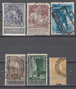 COLLECTION LOT # 3621 BELGIUM 6 STAMPS 1900+ CV+$15