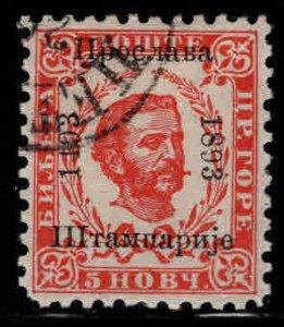Montenegro Scott 25 Used  CTO 1893 overprint